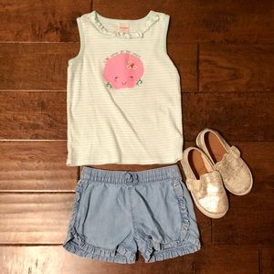 Gymboree Shirts & Tops - Gymboree Outlet Mint Green and White Seashell Tank